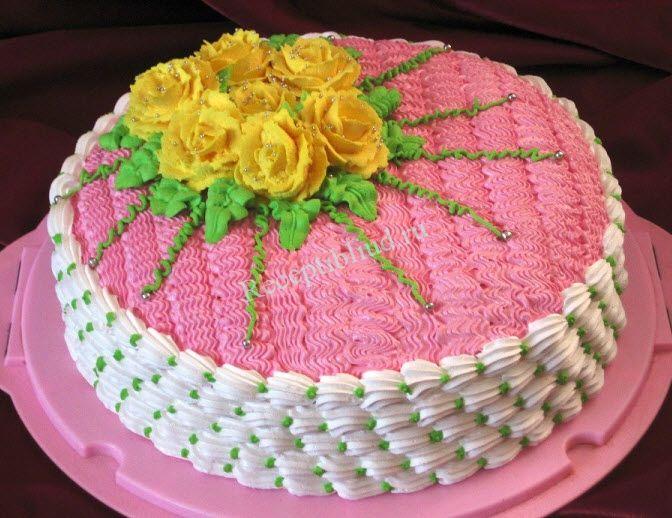 меня как украшать торты в домашних условиях фото выбор