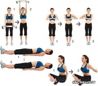 Упражнения для груди женской