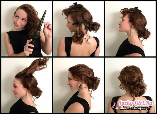 Вечерние прически на средние волосы своими руками
