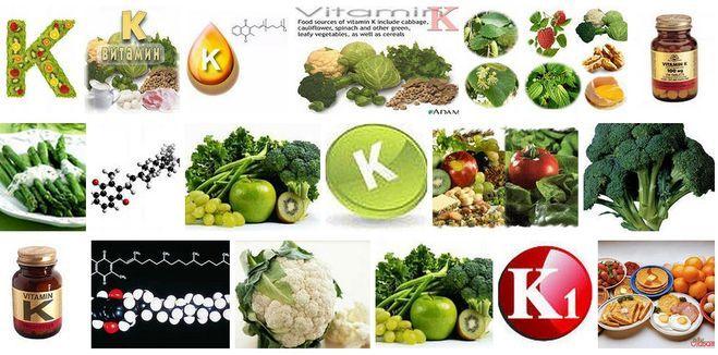 Витамин к в каких продуктах содержится