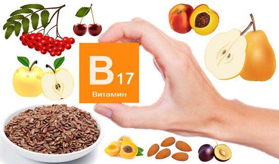 Витамин в17 в каких продуктах